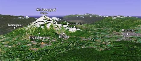 Niseko Japan - Main Map