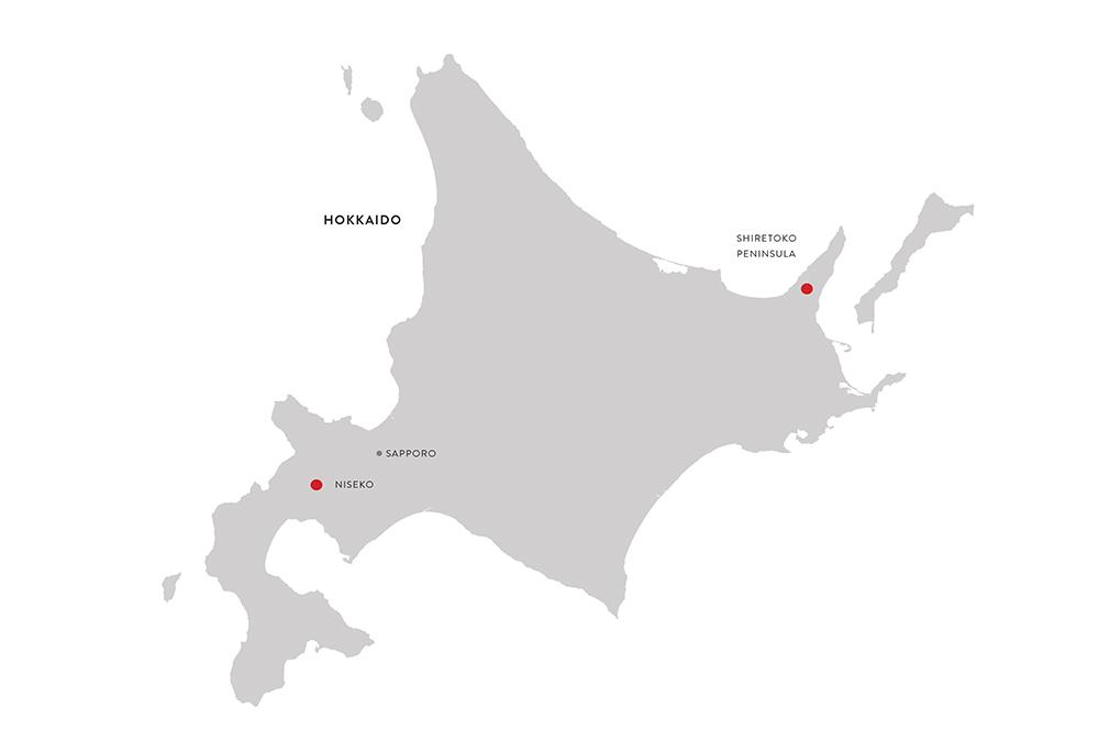 Niseko Shiretoko Peninsula Map