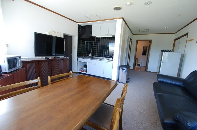 Ramat Niseko Living and Dining Area with TV | East Hirafu
