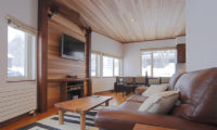 Shirayuki Lodge Living and Dining Area with TV | East Hirafu