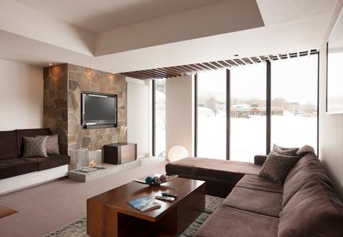 The Vale Niseko Living Area with TV | Upper Hirafu