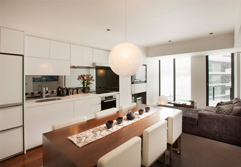 The Vale Niseko Kitchen Living and Dining Area | Upper Hirafu
