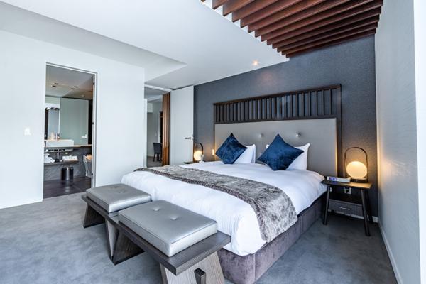 The Vale Niseko Two Bedroom Apartment Bedroom with Lamps | Upper Hirafu