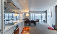 The Vale Niseko Three Bedroom Apartment Kitchen and Dining Area | Upper Hirafu