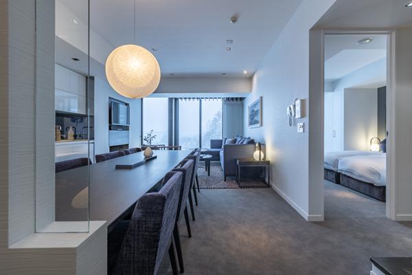 The Vale Niseko Three Bedroom Apartment Bedroom View | Upper Hirafu