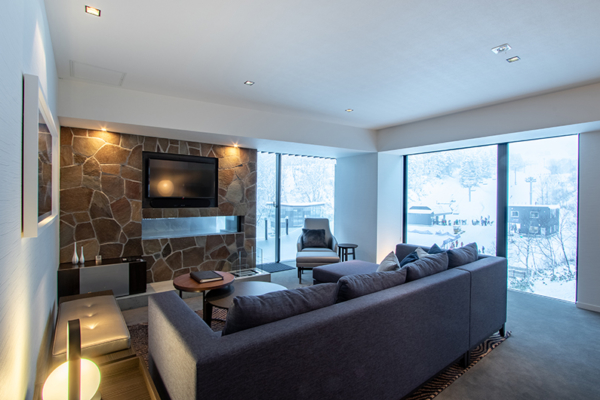 The Vale Niseko Three Bedroom Apartment Lounge Area | Upper Hirafu