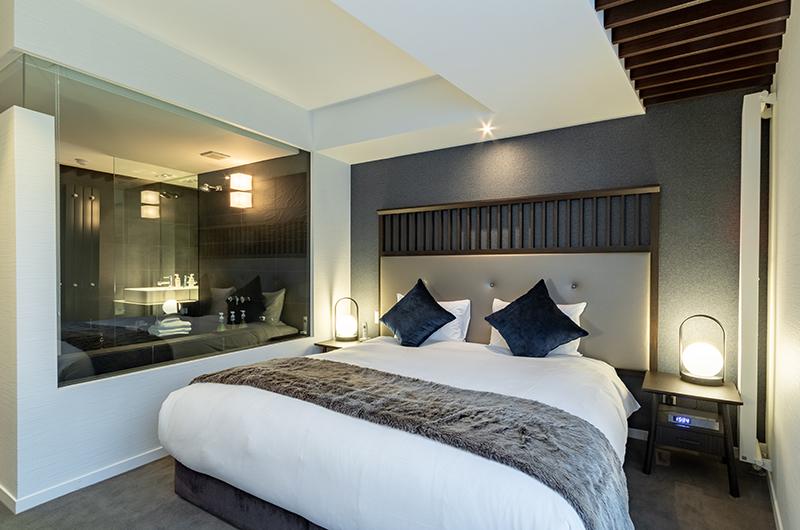 The Vale Niseko Three Bedroom Apartment Bedroom with Lamps | Upper Hirafu