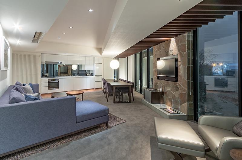 The Vale Niseko Three Bedroom Apartment Living Area | Upper Hirafu