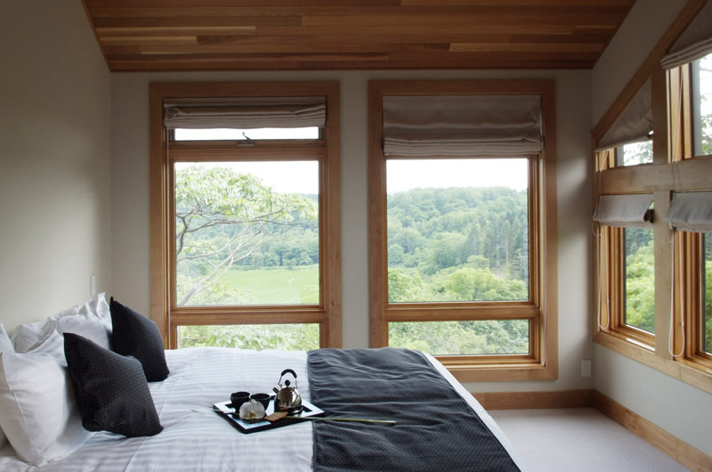 Zekkei Bedroom with Outdoor View | Lower Hirafu