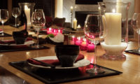 Zekkei Dining Area with Crockery | Lower Hirafu