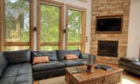 Asahi Lodge Living Area with Fireplace | Izumikyo 3