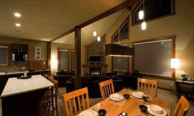 Niseko Creekside A Living and Dining Area with TV | East Hirafu