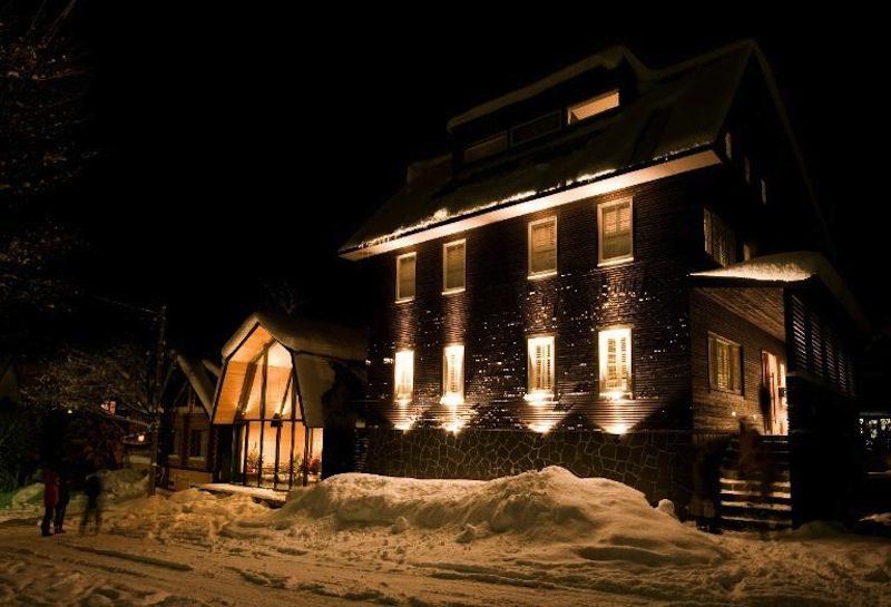 Kimamaya Boutique Hotel Exterior at Night | Middle Hirafu Village