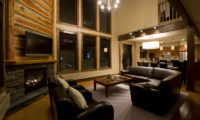 Latitude 42 Living and Dining Area at Night | Lower Hirafu