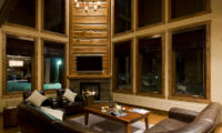 Latitude 42 Living Area at Night | Lower Hirafu