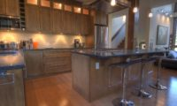 Mangetsu Lodge Kitchen Area with Wooden Floor | East Hirafu