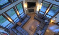 Mangetsu Lodge Lounge Area Top View | East Hirafu
