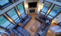 Mangetsu Lodge Living Area Top View | East Hirafu