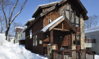 Mojos Outdoor Area with Snow | Lower Hirafu