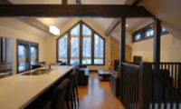 Mojos Kitchen Area with Wooden Floor | Lower Hirafu