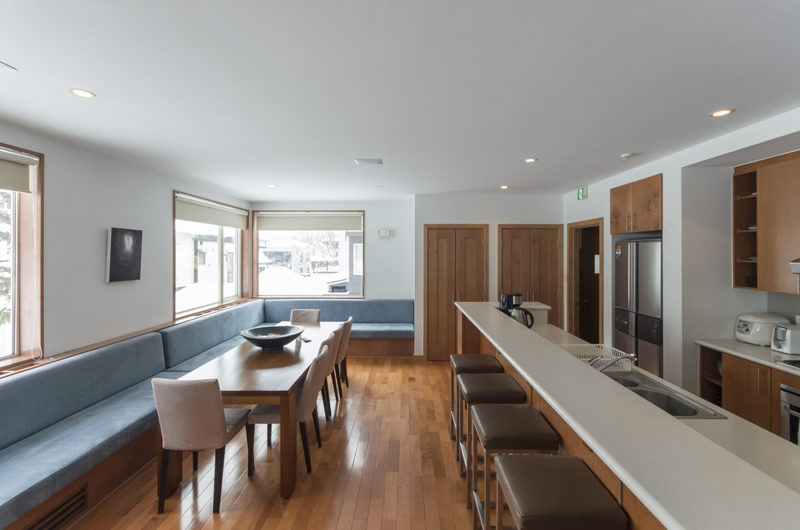 Seizan Kitchen and Dining Area with Wooden Floor | Middle Hirafu