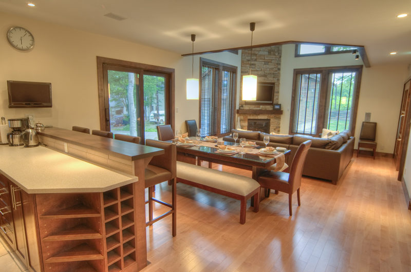 Shika Living Kitchen and Dining Area with Outdoor View | East Hirafu