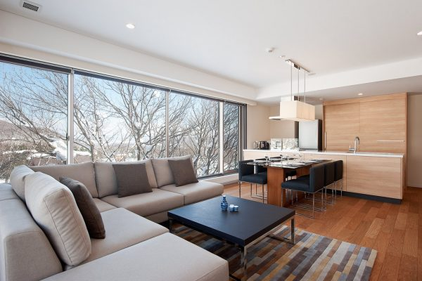 Shiki Niseko Kitchen Living and Dining Area | Upper Hirafu