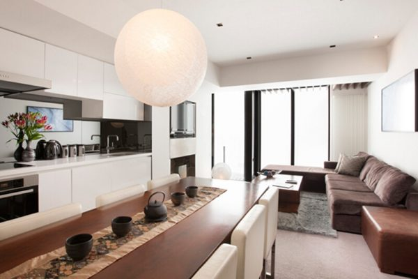 The Vale Niseko Living Dining and Kitchen Area | Upper Hirafu