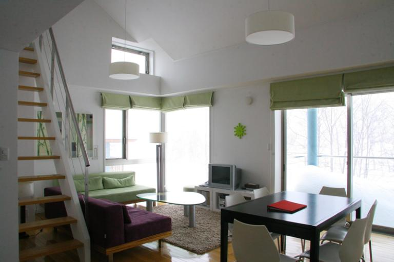 Deep Tracks Living and Dining Area with TV | Upper Hirafu