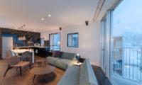 Kira Kira Living Area with View | Upper Hirafu