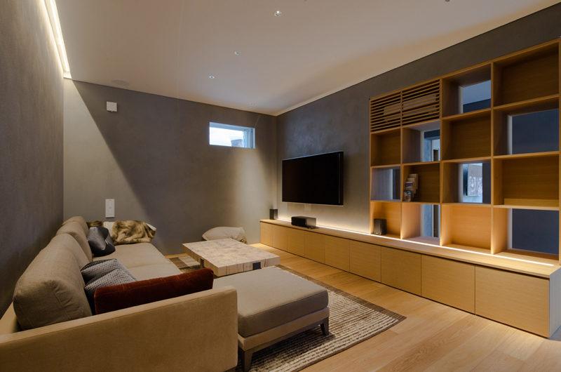 Kitadori Lounge Area with TV | The Escarpment