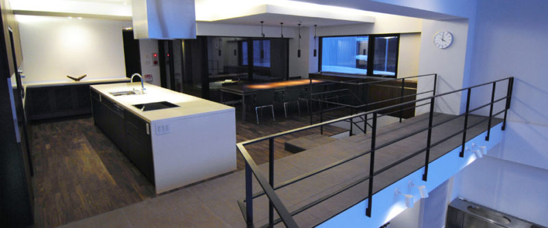 Sekka Kan Kitchen and Dining Area with Wooden Floor | Middle Hirafu