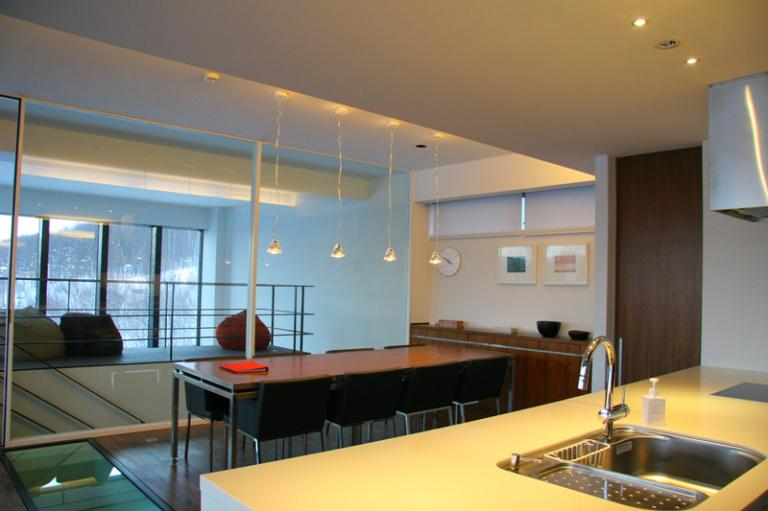 Sekka Kan Kitchen and Dining Area | Middle Hirafu