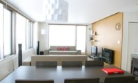 Yama Shizen Living and Dining Area with TV | Upper Hirafu
