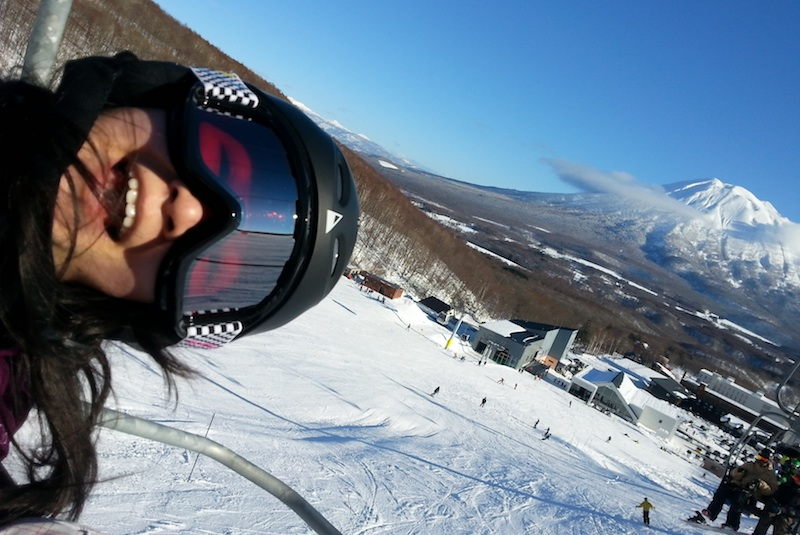 Bluebird day in Niseko
