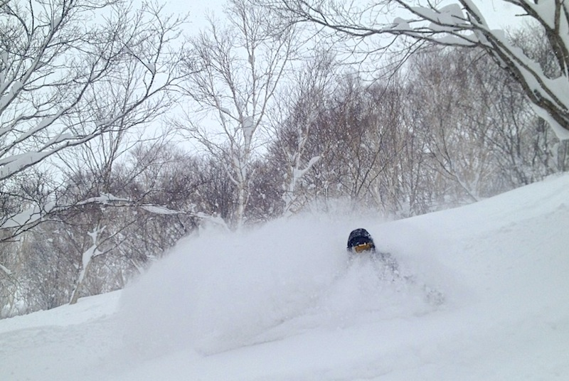 Face shots in Niseko