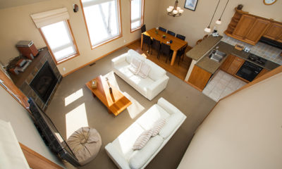 Niseko Alpine Apartments Living Room Top View | Upper Hirafu Village