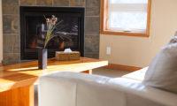Niseko Alpine Apartments Fireplace | Upper Hirafu Village