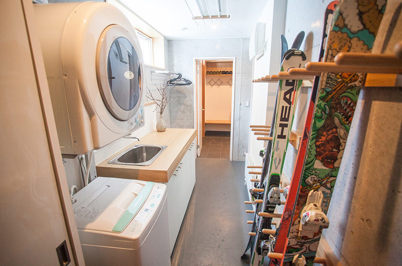 Ezo Yume Drying Room with Washing Machine | Lower Hirafu