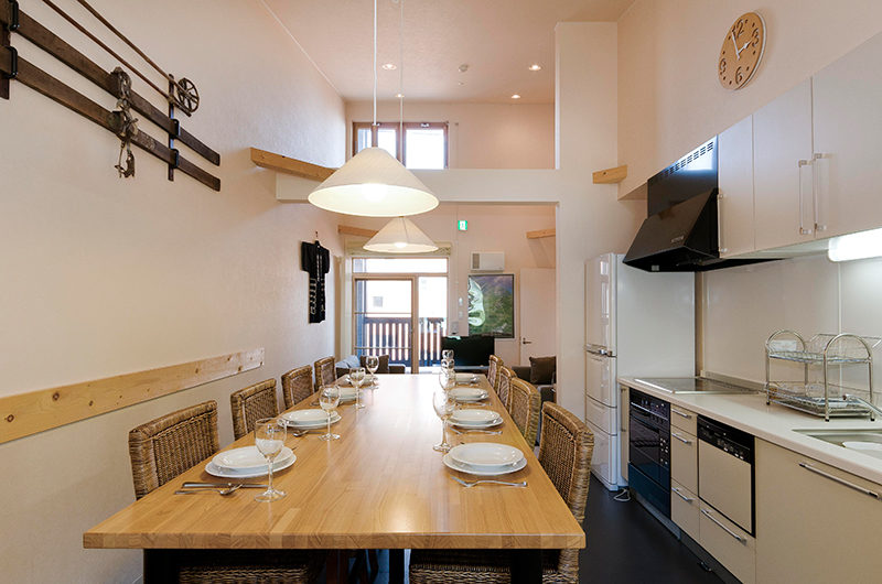 Gondola Chalets Kitchen and Dining Area | Upper Hirafu