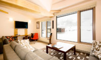 Gondola Chalets Living Area with TV | Upper Hirafu