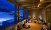 Hilton Niseko Village Dining Area at Night | Niseko Village