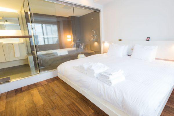 J-Sekka Suites Bedroom with Wooden Floor | Middle Hirafu