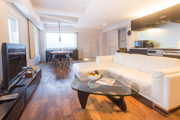 J-Sekka Suites Living and Dining Area | Middle Hirafu