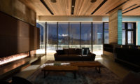 Jun Living Area with Balcony at Night | Lower Hirafu