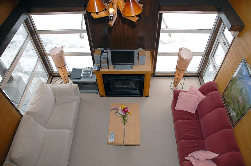 Jurin Cottage Living Area Top View | East Hirafu