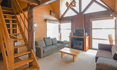 Jurin Cottage Living Area with TV | East Hirafu