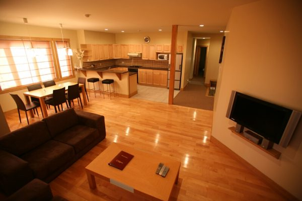 Kamakura Living and Dining Area with Wooden Floor | Middle Hirafu