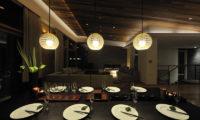 Niseko Kasetsu Dining Area at Night | Lower Hirafu