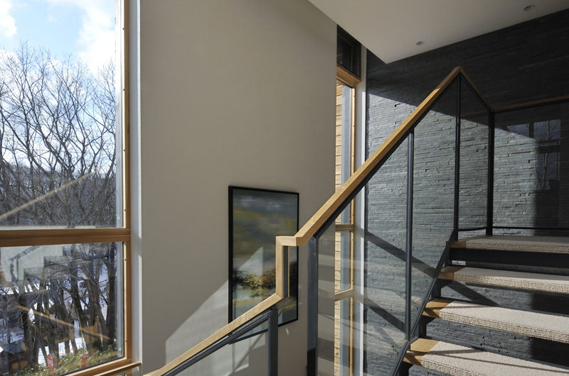 Niseko Kasetsu Outdoor View from Stairs | Lower Hirafu